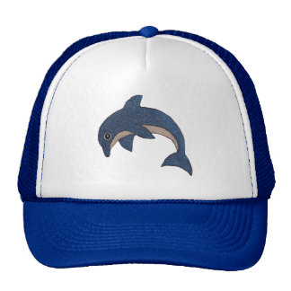 Cute Cartoon Type Blue White Jumping Dolphin Cap