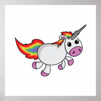 Cute Cartoon Unicorn Poster