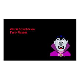 Cute Cartoon Vampire Hallowen Pack Of Standard Business Cards
