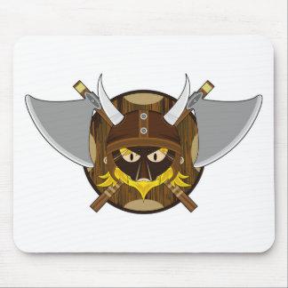 Cute Cartoon Viking Warrior Mouse Mat