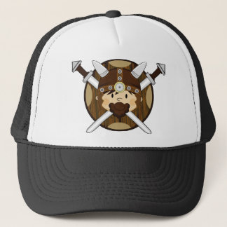 Cute Cartoon Viking Warrior Trucker Hat