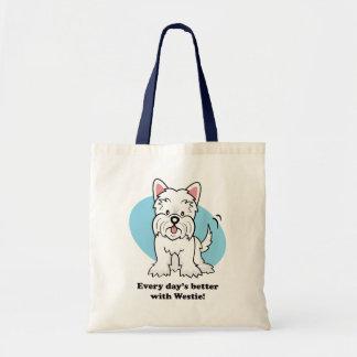 Cute Cartoon Westie Bag
