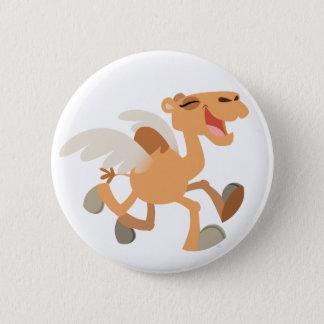 Cute Cartoon Winged-Camel Button Badge