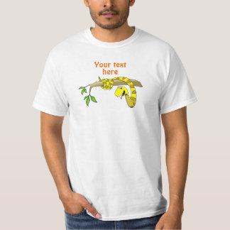 Cute Cartoon Yellow Snake in a Tree Reptile T-Shirt