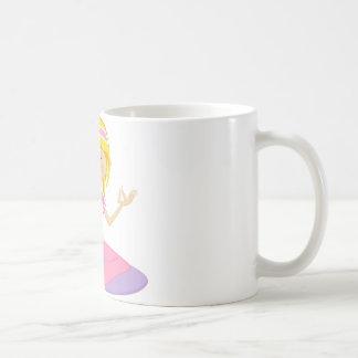 Cute Cartoon Yoga Girl Coffee Mug