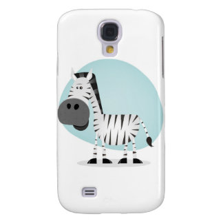 Cute Cartoon Zebra Galaxy S4 Cover