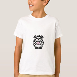 Cute Cartoon Zebra Clipart T-Shirt