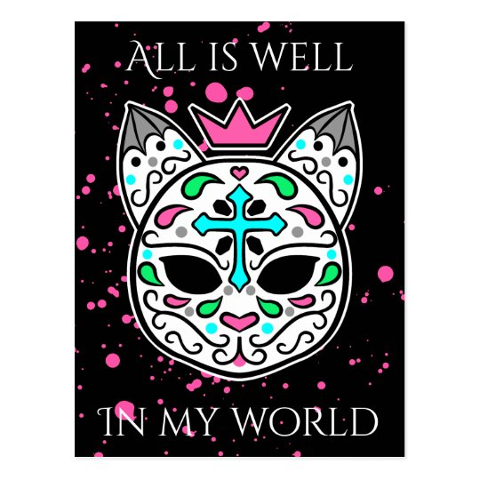 Cute cat affirmation postcard
