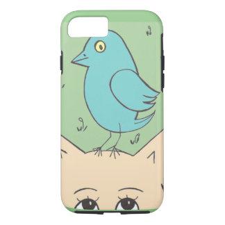 Cute cat and bird iPhone 7 case
