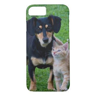 Cute cat and dog friends iPhone 7 case
