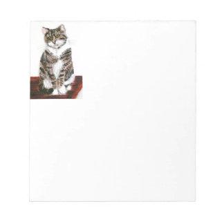 Cute Cat Art Grey Tabby Notepad