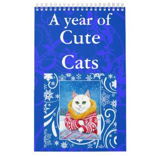 Cute Cat art illustrations calendar