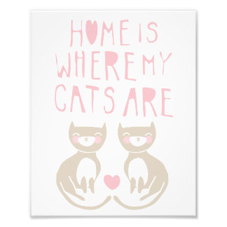 Cute Cat Art Print Photo Print
