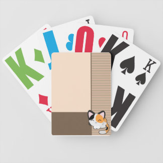 Cute Cat Beige Cards Bicycle Poker Cards