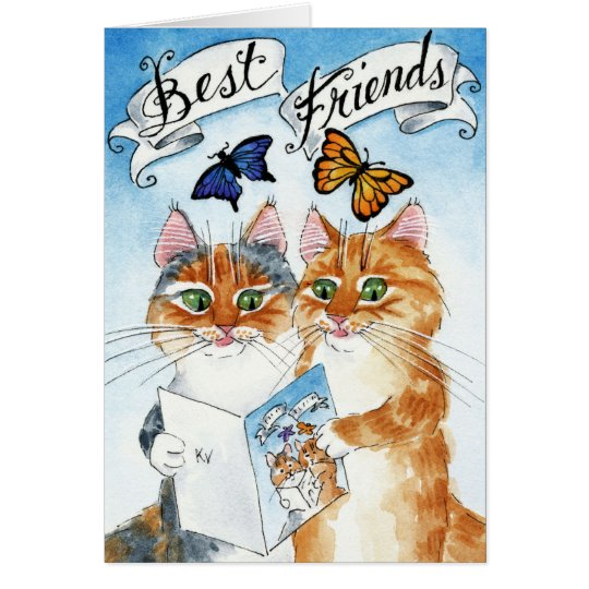 Cute cat best friend birthday or any occasion