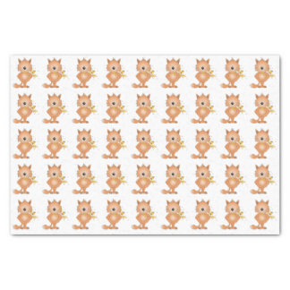 Cute Cat Cartoon Tissue Paper