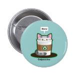 Cute Cat Coffee 6 Cm Round Badge