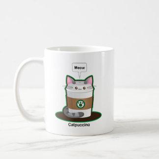 Cute Cat Coffee Basic White Mug