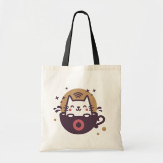 Cute Cat Coffee Tote Bag