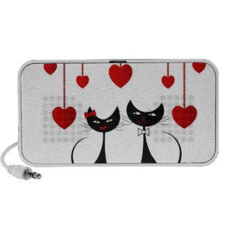 Cute Cat Couple Travel Speakers