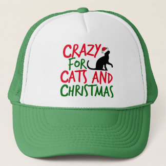 Cute Cat Crazy Christmas Trucker Hat