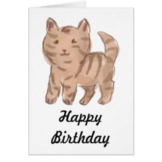Cute Cat Drawing Greeting Card
