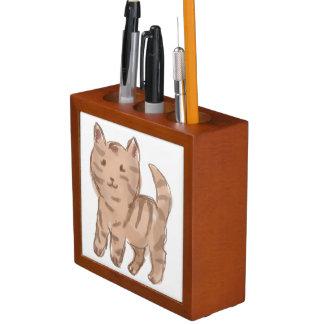 Cute Cat Drawing Desk Organizer