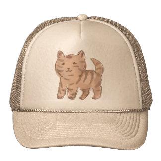 Cute Cat Drawing Mesh Hats
