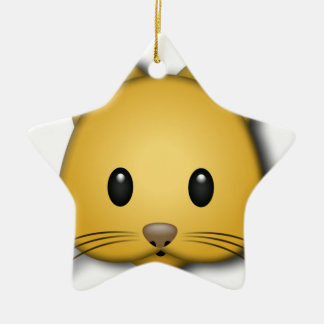 Cute Cat Emoj Style Design Ceramic Star Decoration