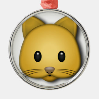 Cute Cat Emoj Style Design Christmas Ornament