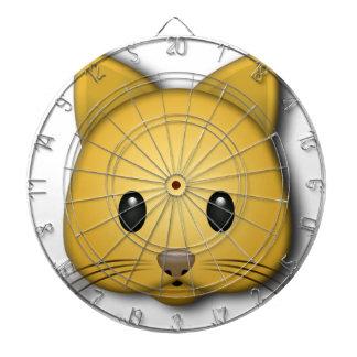 Cute Cat Emoj Style Design Dartboard