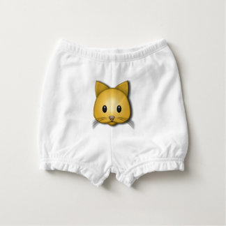 Cute Cat Emoj Style Design Nappy Cover