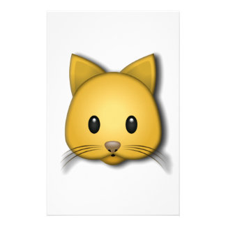 Cute Cat Emoj Style Design Stationery
