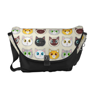 Cute Cat Expressions Pattern Commuter Bags
