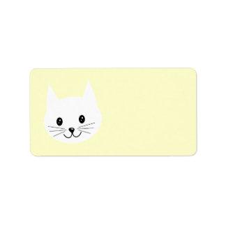 Cute Cat Face. Address Label