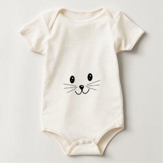 Cute Cat Face. Baby Bodysuit