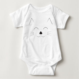 Cute Cat Face Baby Bodysuit