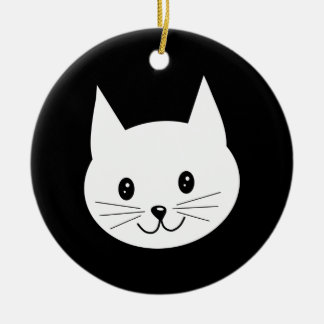 Cute Cat Face. Christmas Ornament