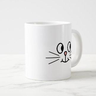 Cute Cat Face. Giant Coffee Mug