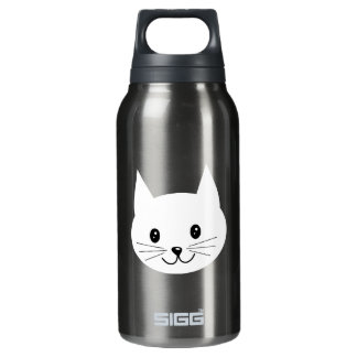 Cute Cat Face. Insulated Water Bottle