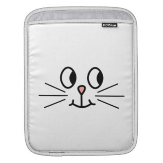 Cute Cat Face. iPad Sleeve
