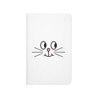 Cute Cat Face. Journals