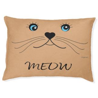 Cute Cat Face MEOW Adorable Cat Pet Bed