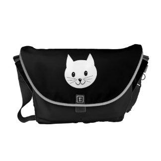 Cute Cat Face. Messenger Bags