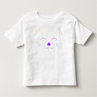 Cute Cat Face - multicolor Toddler T-Shirt