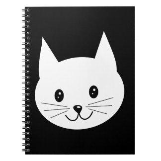 Cute Cat Face. Notebook