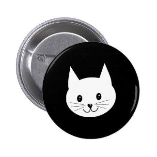 Cute Cat Face Pinback Buttons