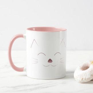 Cute Cat Face - pink Mug