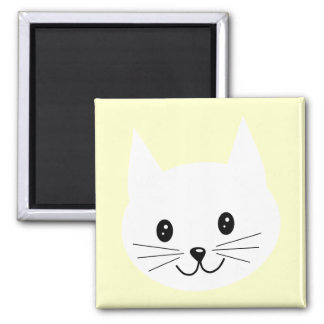 Cute Cat Face. Square Magnet