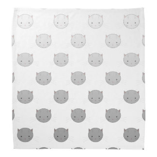 Cute Cat Faces Pattern Grey Do-rag